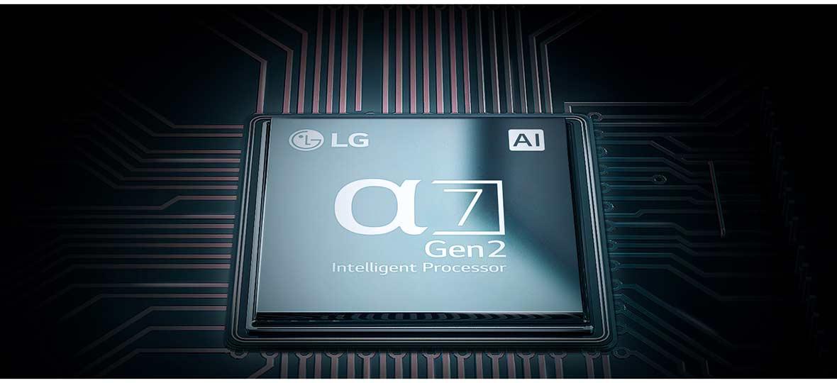 پردازنده α7 تلویزیون ال جی 65SM9000 سری SM9000
