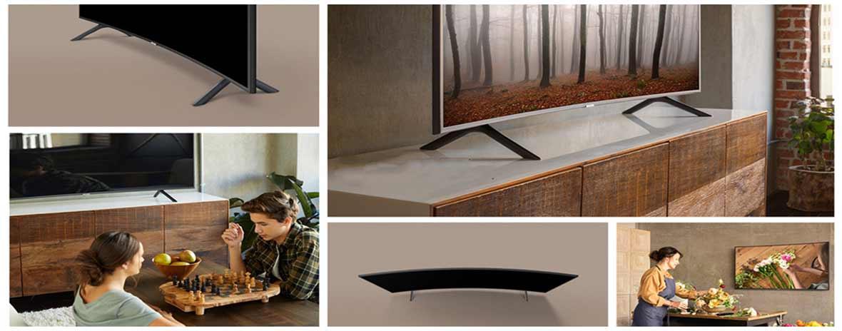 طراحی منحنی تلویزیون سامسونگ 65 اینچ