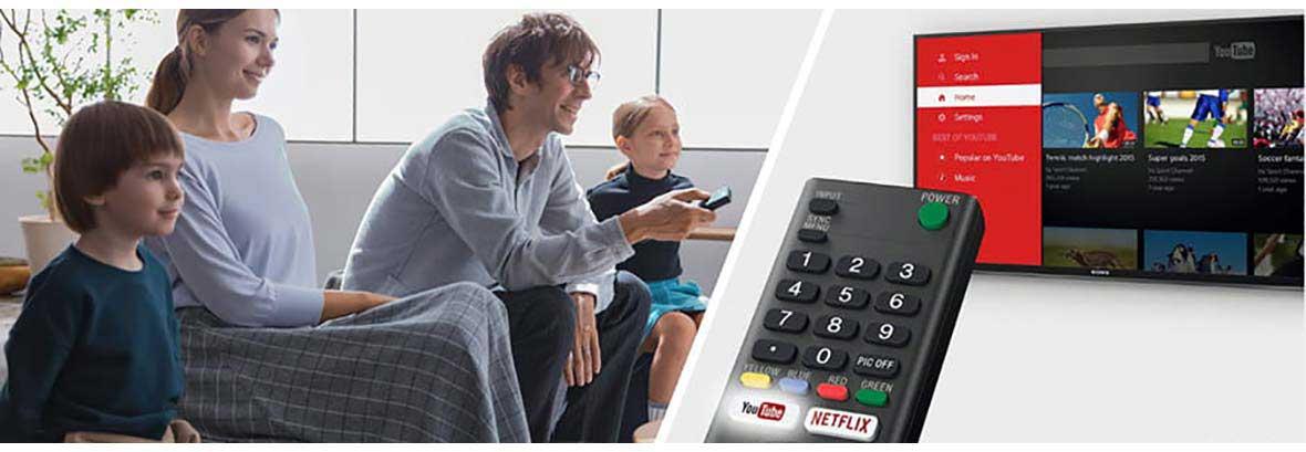 اتصالت سیمی و بی سیم تلویزیون سونی X7077