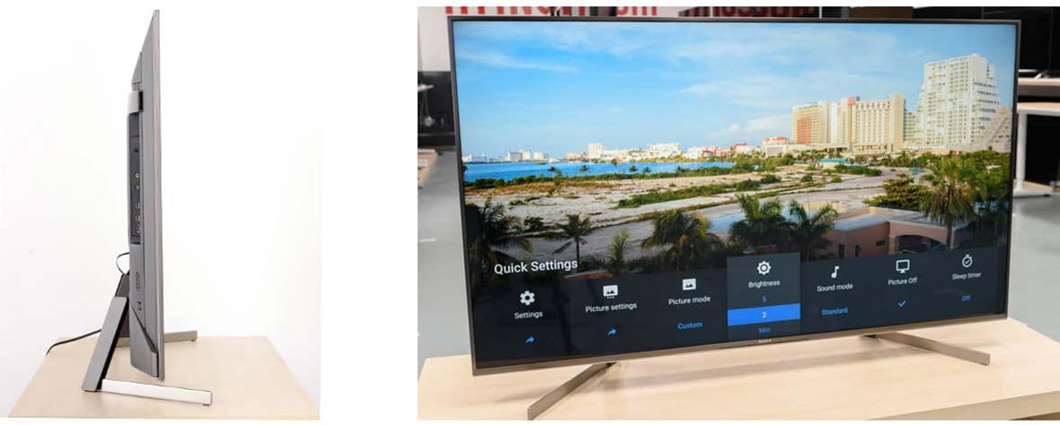 طراحی و کیفیت ساخت تلویزیون سونی X9500