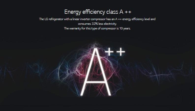 مصرف انرژی یخچال بالا پایین ال جی مدل ۴۲۹ | GA-B429