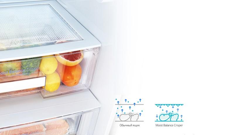 تعدیل هوای داخل یخچال با MOIST BALANCE CRISPER